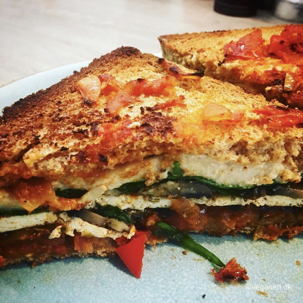 Vegansk Middelhavs Sandwich